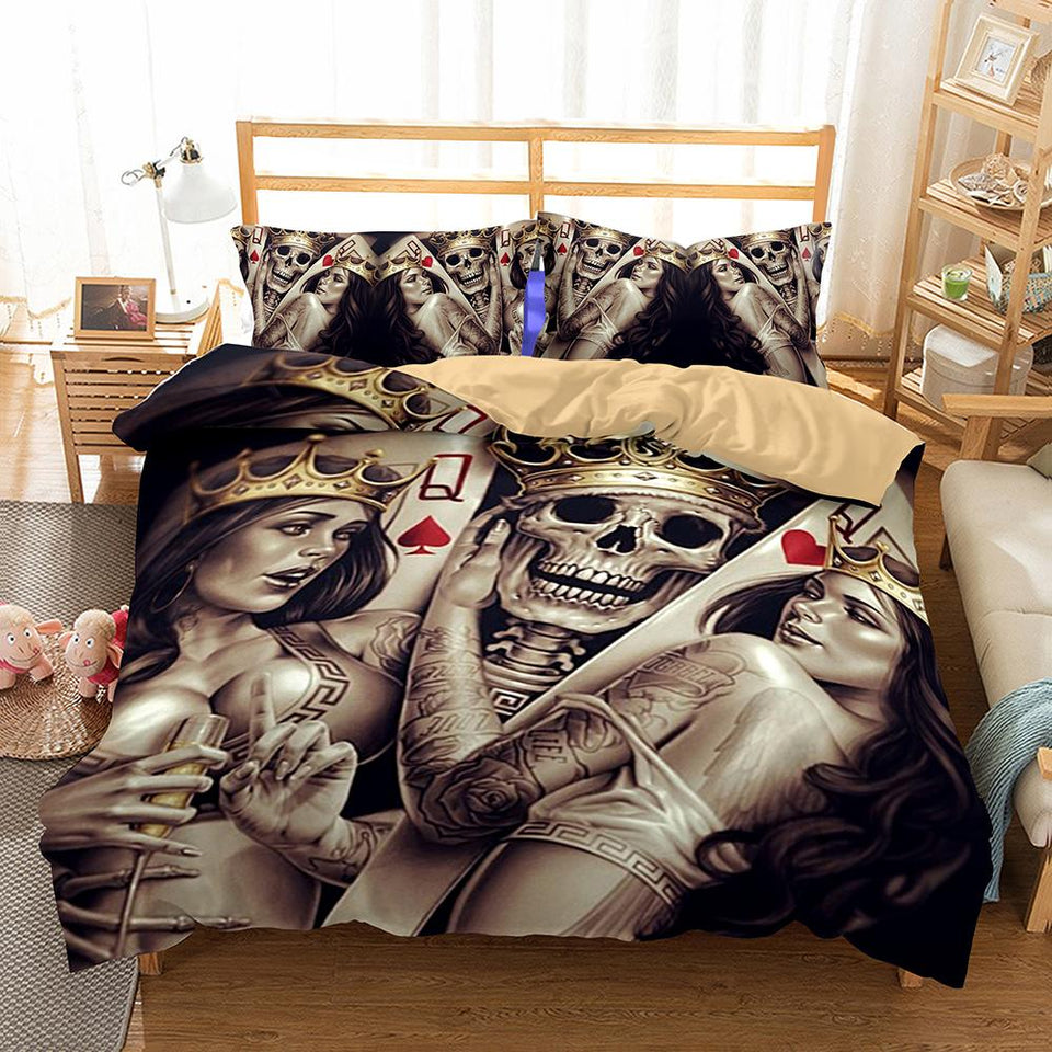 Skull Bedding Set_King and Queen