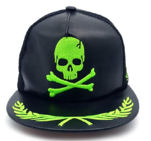 Leather Skull Cap
