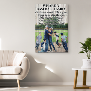 Custom Baseball Canvas_Baseball Family