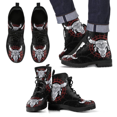Leather Boots_Skull Bull