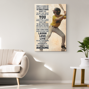 Custom Baseball Canvas_Today is Good Day