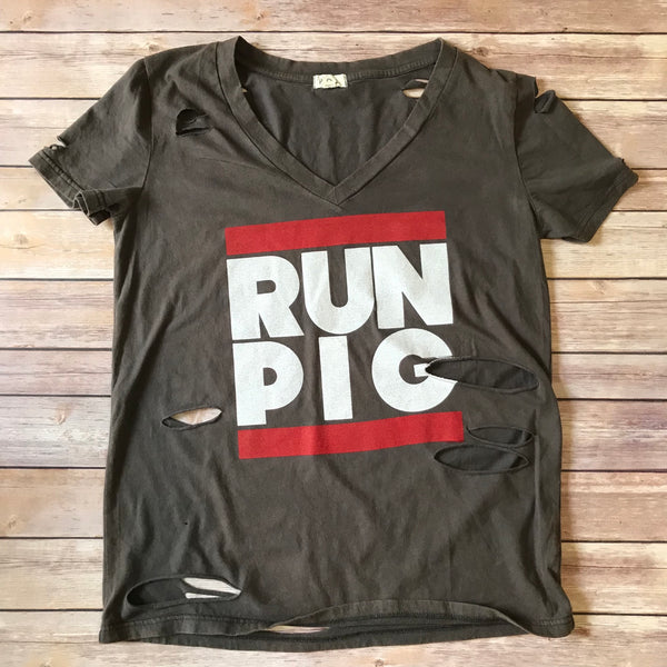 RUN PIG / Women's Distressed