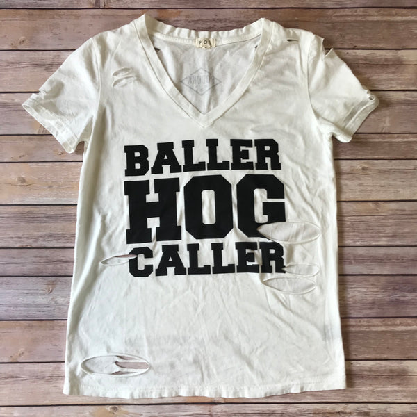 BALLER HOG CALLER / Women's Distressed