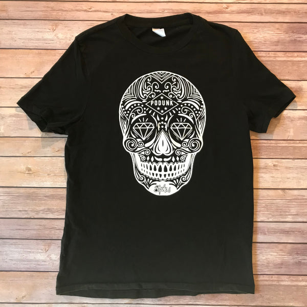 PODUNK Skull / Men's Black Tee