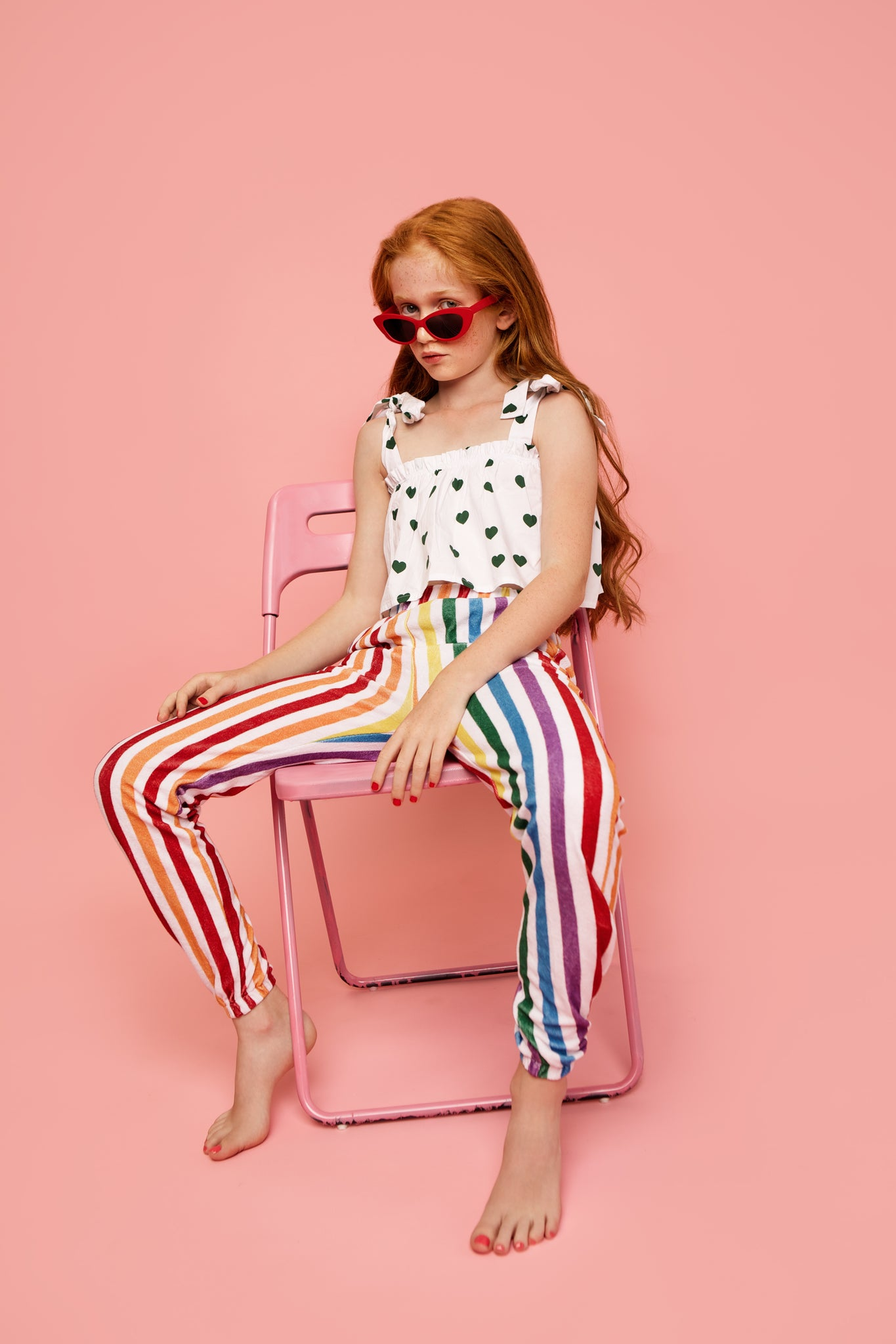 Terry 80's sweat pants - Rainbow Stripe