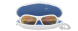 WICKED WHITE BABIATORS POLARIZED WITH ORANGE LENSES