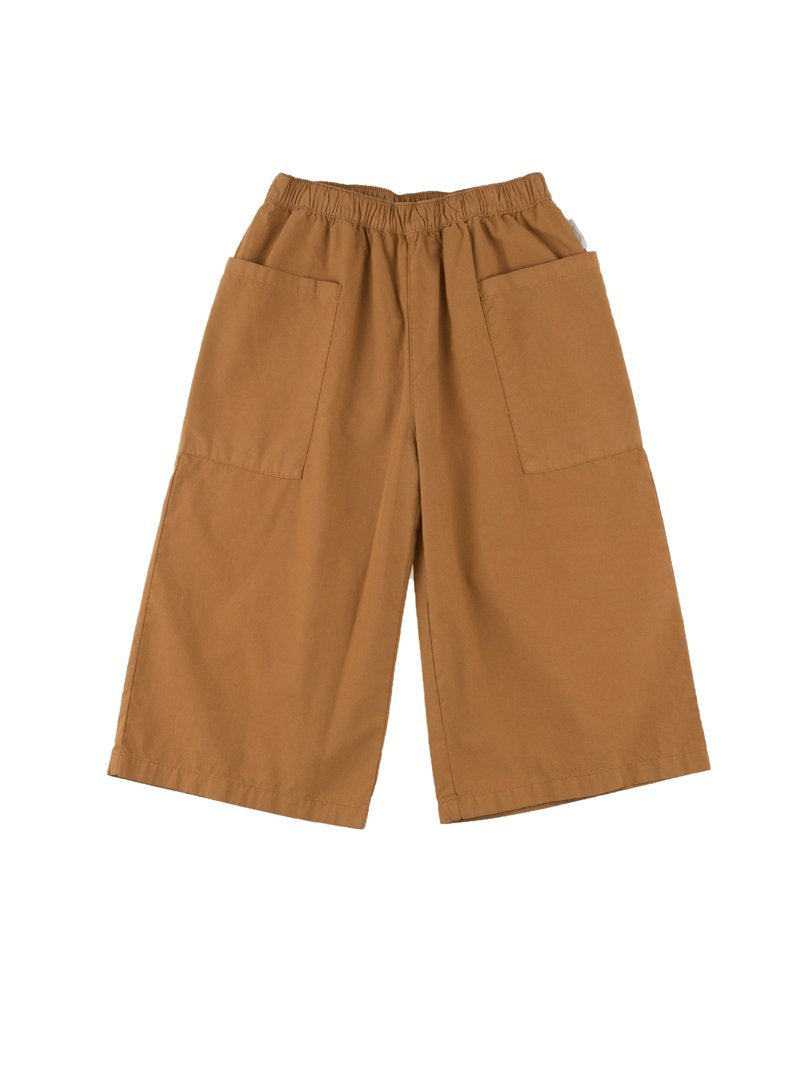 TinyCottons Brown Solid Cool Pant