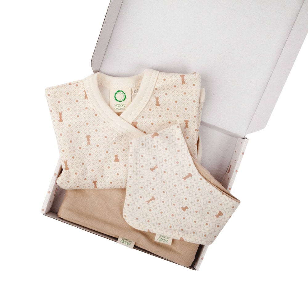 Wooly Organic Small Gift Set - White Shirt