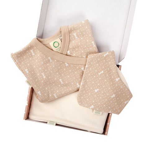 Wooly Organic Small Gift Set - Brown Shirt