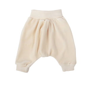 Wooly Organic Baby trousers  - White color (Velour fabric)