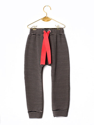Wolf&Rita TROUSERS RICARDO BLACK STRIPES