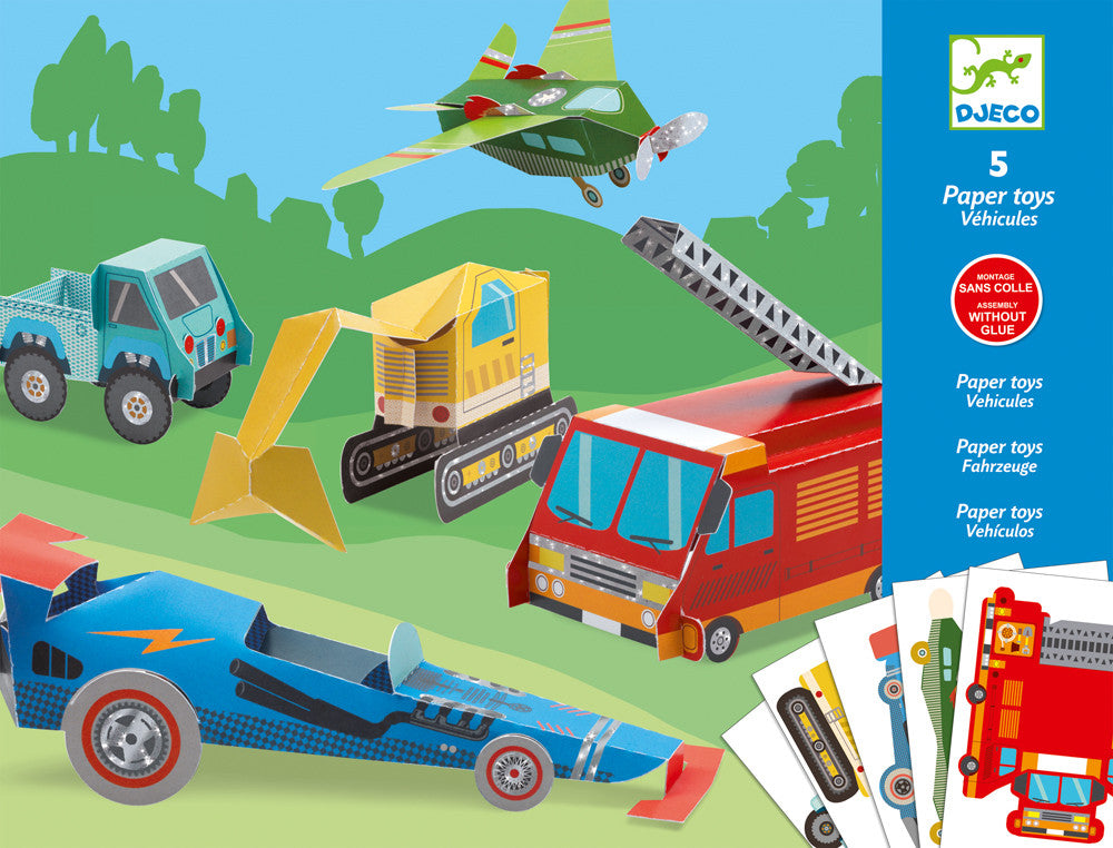 DJECO PAPER TOYS LES ENGINE