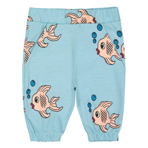 Knee Sweat Shorts - Blue Fish