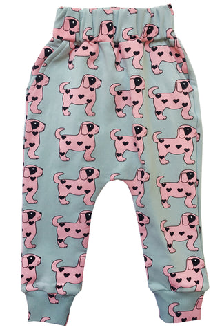 Drop Crotch Sweater Pants - Pink Dog