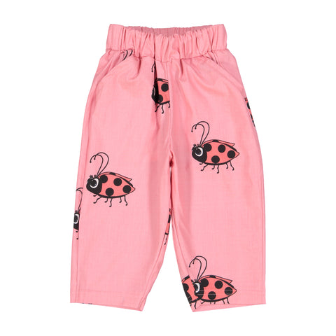 Tulip Pants - Pink Lady Bug
