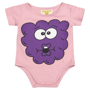 Short Sleeve Onesie - Raspberry Chest