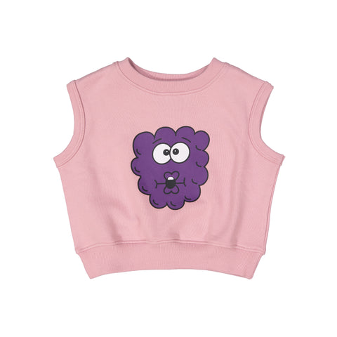 Short Sleeve Sweatshirt - Raspberry Chest