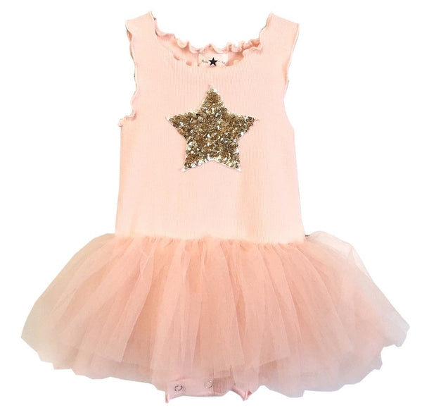 Petite Hailey Baby Onesie TuTu Dress