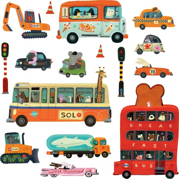 DJECO WALL STICKERS- VEHICLES
