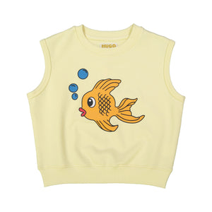 Short Sleeve Sweatshirt - Fish