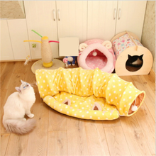 Cat Tunnel Bed With Mat