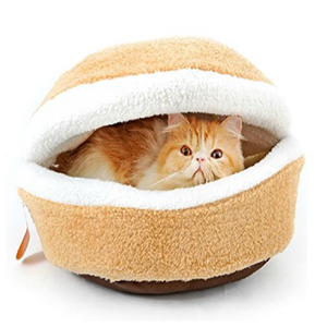 Soft Burger Cat Bed
