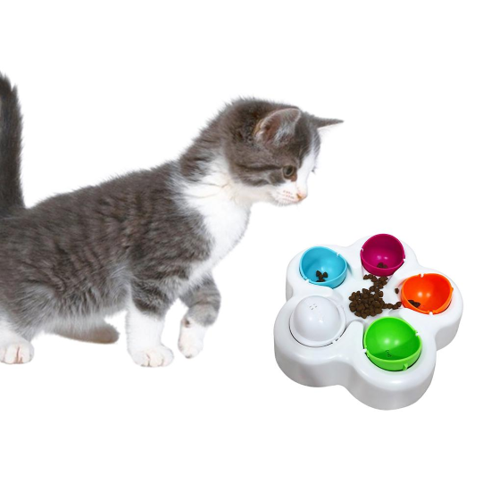 Educational Cat Feeder IQ Toy