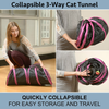 Collapsible 3-Way Cat Tunnel