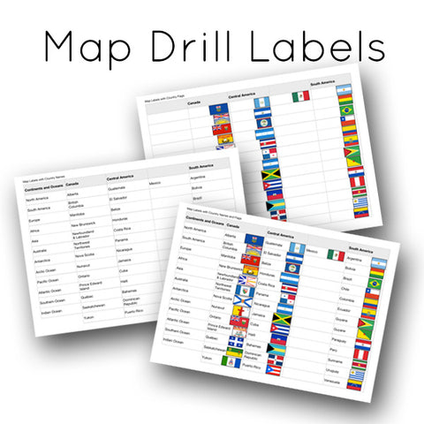 Map Drill Labels