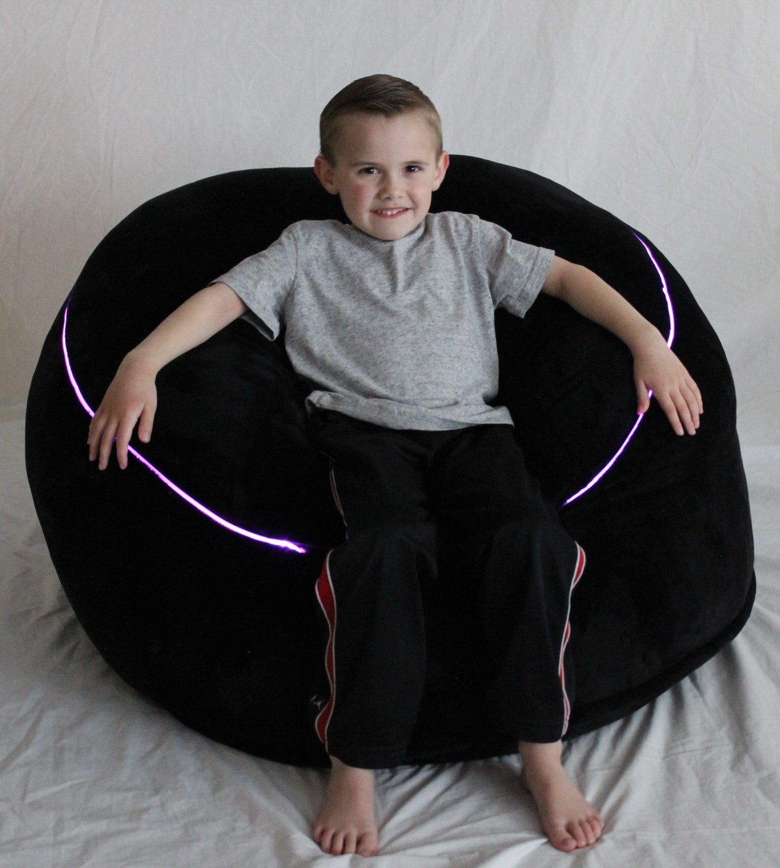 Remarkable The Beam Bag Bean Bag Chair With Fiber Optic Lights Remote Squirreltailoven Fun Painted Chair Ideas Images Squirreltailovenorg