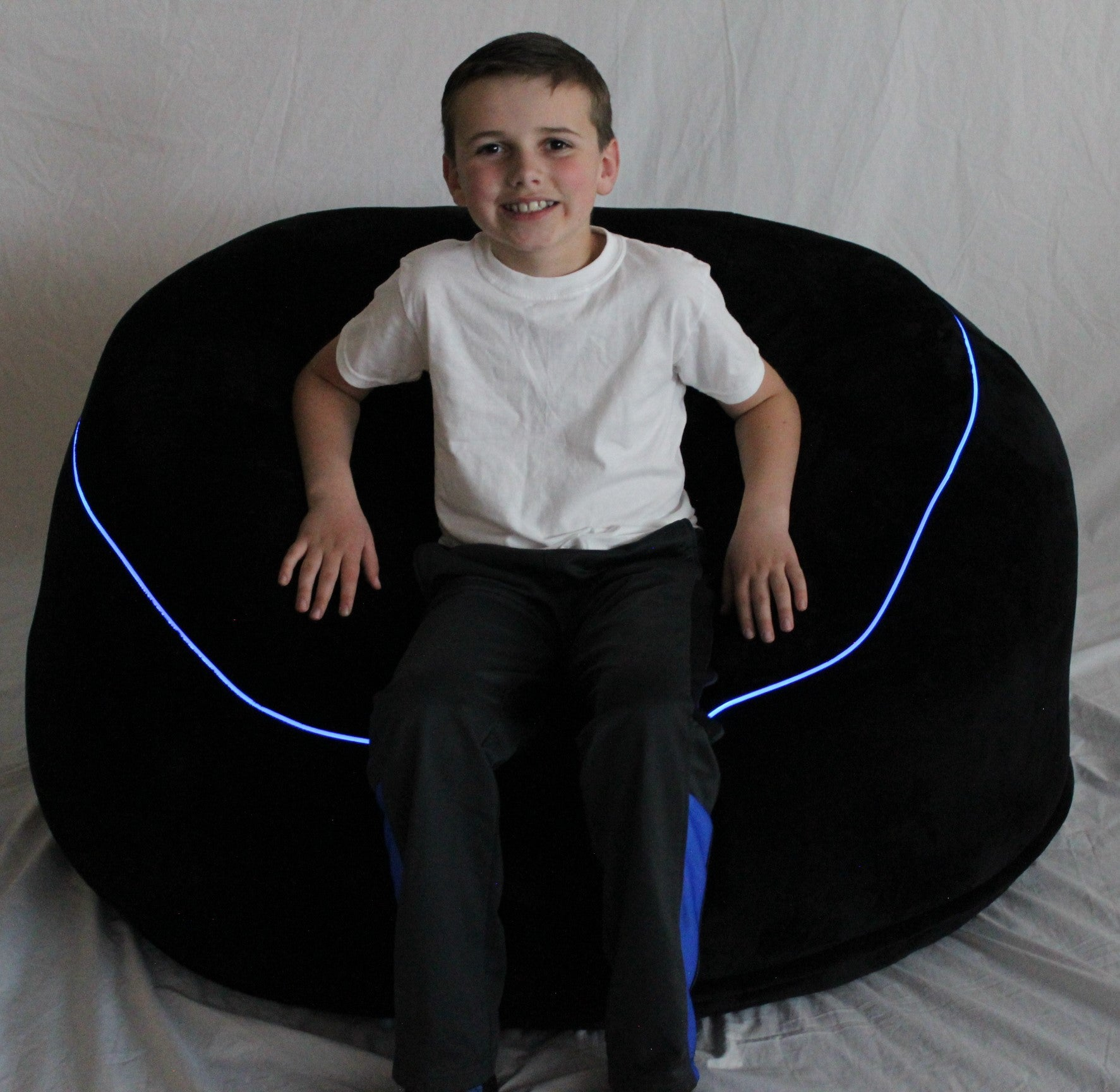 Incredible The Beam Bag Bean Bag Chair With Fiber Optic Lights Remote Squirreltailoven Fun Painted Chair Ideas Images Squirreltailovenorg