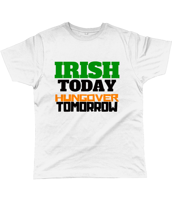 IRISH TODAY, HUNGOVER TOMORROW | Graphic Print Jersey Tee