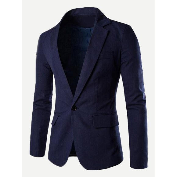 Classic Navy Single Button Blazer