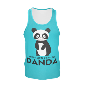 """MY BIG FAT PANDA"" Print Tank Top - IG Studio"