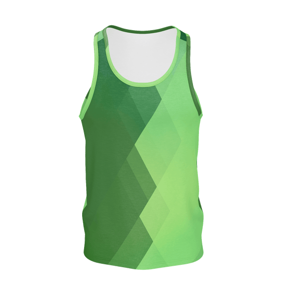 GEO GREEN Print Tank Top - IG Studio