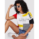 #2 Graphic Color Pop Printed T-Shirt - IG Studio
