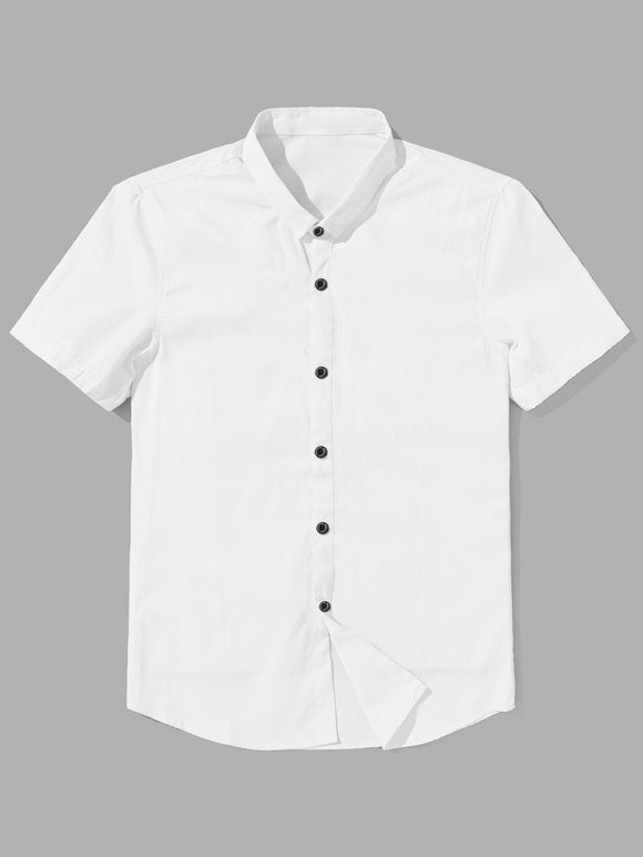 Classic Cotton Buttoned Polo Shirt - White