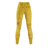 JUNGLE YELLOW Print Leggings - IG Studio