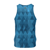 GEO BLUE Print Tank Top - IG Studio