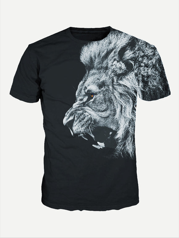 Lion Profile | Graphic Print Tee