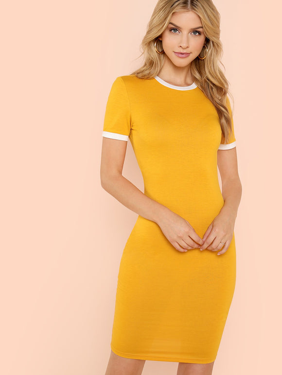 Skinny Pencil Dress - Ginger
