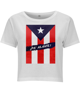 "Puerto Rico - ""¡Pa Alante!"" Cropped Jersey Tee"