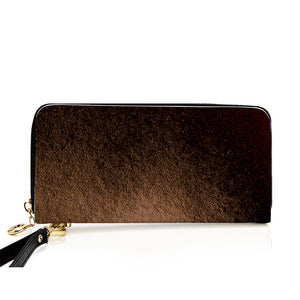 """Vintage Terracotta"" Long Faux Leather Purse - IG Studio"