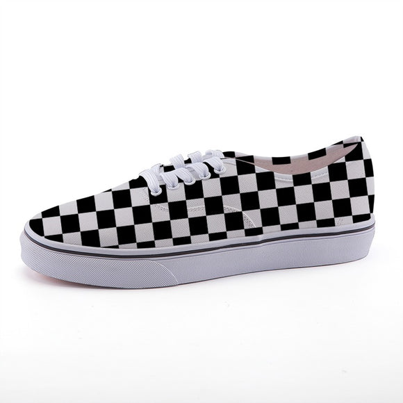 Women's Low-Top Checkered Shoes