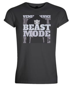 """BEAST MODE"" Rolled Sleeve Tee - IG Studio"