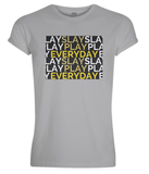 """SLAY, PLAY, EVERYDAY"" Rolled Sleeve Tee - IG Studio"