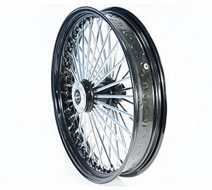 HARLEY BREAKOUT - Ultima King Spoke Black/Chrome Front Wheel 21 x 3.5