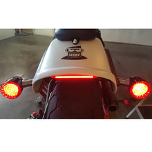 HARLEY FAT BOB - Billet Fender Tip Brake Tail Light LED