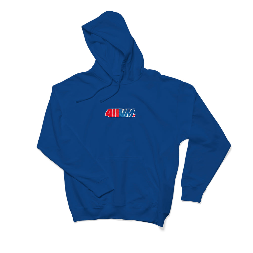 411VM Embroidered Hoodie - Blue