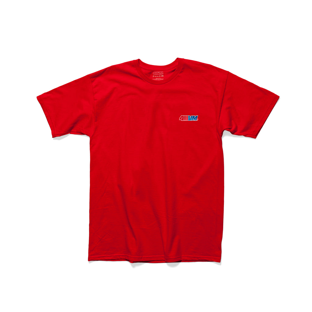 411VM Embroidered T-Shirt - Red